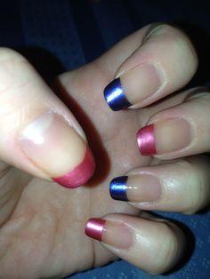 Colorful nail tips My Nail Art | Nail colored nail tips