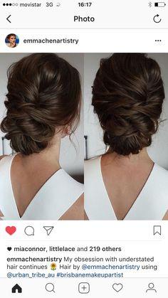Messy Boho Bun – – - Wedding Makeup For Fair Skin Hairstyle Bridesmaid, Bridal Hair Updo, Wedding Hair And Makeup, Hair Makeup, Wedding Updo, Boho Wedding, Wedding Bridesmaids, Bridal Gown, Fancy Hairstyles