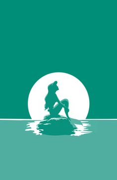Little Mermaid Art Print- I have this on my phone case <3