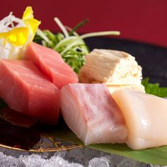 Nikko fresh tofu skin and seasonal seafood sashimi with local vegetables