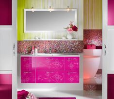 cool Bathroom Design | Unique Glossy Modern Bathroom Design | iDesignArch | Interior Design ...