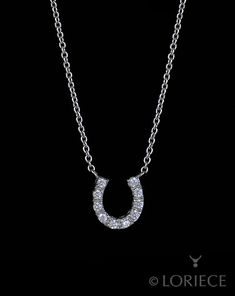 This horseshoe necklace will shine in the show ring! The light shines  perfectly through 10 9d09c796ea59