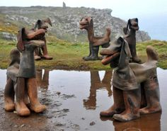 Rubber boot dogs