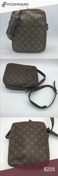 "Louis Vuitton Marceau vintage monogram crossbody 100% authentic* Overall Condition: Good condition  Designer: Louis Vuitton  Material: Canvas  Includes: None  Origin: France  Production Year: n/a  Date/Authenticity Code: n/a  Measurements: 8.3"" L x 3.2"" W x 9.8"" H  Exterior Pockets: 1  *SHIPS NEXT DAY    Interior Pockets: None  Closure/Opening: zip  Interior Lining: Brown leather lining  Hardware: Goldtone  Accessories: None Louis Vuitton Bags Crossbody Bags"