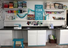 "The Craft Room Megan Made (wouldn't this be great if you have the space for a craft ""room""?)"
