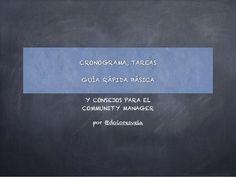 Cronograma y tareas community manager by Dolores Vela via slideshare
