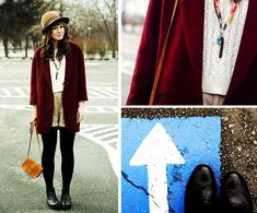 Burgundy by Maddy C Thread Bangles, Shorts With Tights, Fashion Boots, Style Me, Duster Coat, Burgundy, Boho, Winter Boots, Blouse