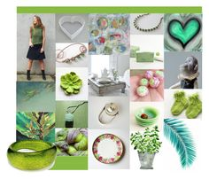 """Green Finds"" by crystalglowdesign ❤ liked on Polyvore featuring art"