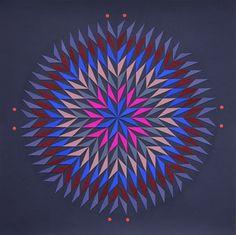 Dahlia - Ultramarine Blue by Lena Wolff