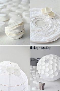 DIY Cupcake Liner Lamp