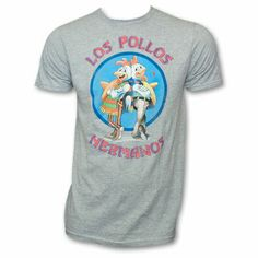 Breaking Bad Los Pollos Hermanos Shirt Grey on the redditgifts Marketplace