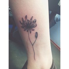 Dandelion ankle tattoo