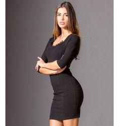 Pencil Dress with lace - Black Pencil Dress, Black Laces, Lace Dress, Dresses, Vestidos, Pencil Skirt Dress, Pencil Dresses, The Dress, Dress