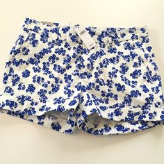 GAP shorts size 2 NEW GAP Shorts. Size 2. Brand new with tags. Blue and white. 98% cotton 2% spandex - has some stretch. GAP Shorts