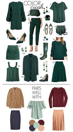 Color Crush – Penny Pincher Fashion - New Site Capsule Outfits, Fashion Capsule, Komplette Outfits, Capsule Wardrobe, Fall Outfits, Fashion Outfits, Womens Fashion, Fashion Fashion, Fashion Check