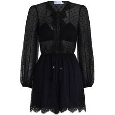 ZIMMERMANN Oleander Lattice Playsuit (€320) ❤ liked on Polyvore featuring jumpsuits, rompers, dresses, outfits, playsuit, romper, blue jumpsuit, lace up jumpsuit, playsuit romper and neck-tie