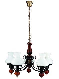 Petronel - päťramenný luster rustikálny