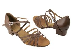 VF-1670C-L210-15 Ladies Dance Shoe Coffee Brown Leather
