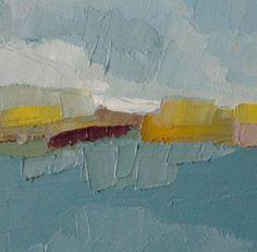 Original abstrakte Landschaftsmalerei Öl auf von michaelbroad