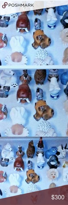 Pre-Owned 35 miniature hand carved animal figurine You are viewing 1mixed lot Some are vintage Rinconada Uruguay 35 miniature animal figurines all of them come from one collection and have been very well taken care of and are in great condition less two that have been inspected with minor defects  the Moose has a small chip by his right foot/ hoof and the hippo has some small scratches and scuff marks on his body because of his color both can be touched up by researching the color with a…