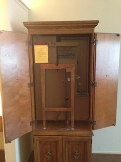 rare singer space saver sewing machine cabinet armoire. Black Bedroom Furniture Sets. Home Design Ideas