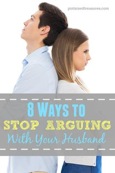 Are you always arguing with your husband? Here's help on how to STOP and add some peace to your marriage!