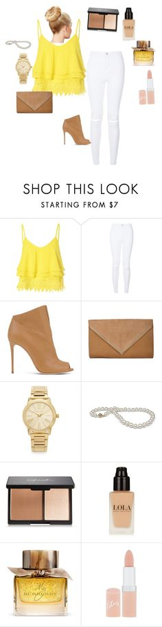 """Date."" by ahmetovic-mirzeta ❤ liked on Polyvore featuring Glamorous, New Look, Casadei, Michael Kors, Burberry and Rimmel"
