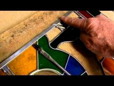 Stained Glass Project 001a Zinc Edging - YouTube