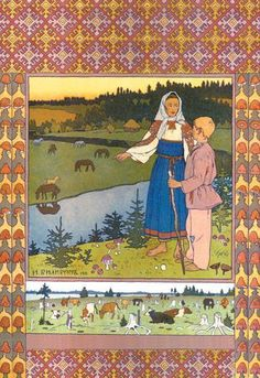 The Defeated Warriors Bilibin Russian Folk Art Print