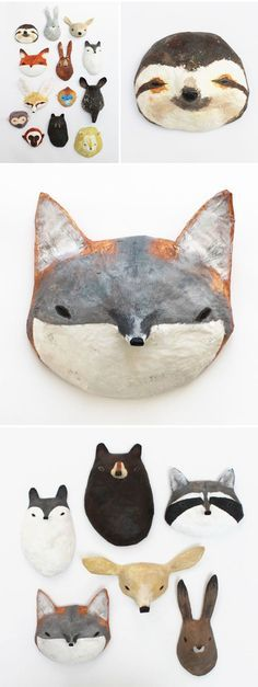 abigail brown – paper mache masks – something to make at next conference? abigail brown – paper mache masks – something to make at next conference? Paper Clay, Diy Paper, Paper Art, Paper Crafts, Wooden Crafts, Fabric Crafts, Diy Crafts, Diy For Kids, Crafts For Kids