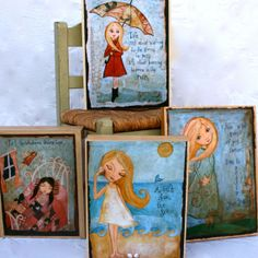 ANY PRINT  Mounted on 11 x 14 Wooden Cradle Board- Childrens Wall Art -Kids Decor