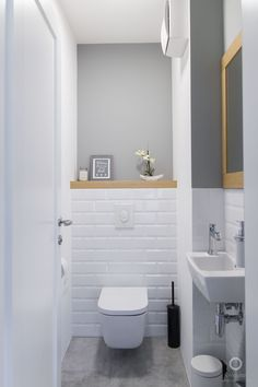 Space Saving Toilet Design for Small Bathroom - Home to Z toilettes Half Bathroom Decor, Bathroom Design Small, Bathroom Styling, Bathroom Interior Design, Bathroom Ideas, Half Bathrooms, Cloakroom Ideas, Small Toilet Design, Bath Design