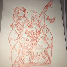 regram @k2rocker Rough sketch mc