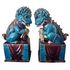 Chinoiserie Chic: Blue Fu Dogs