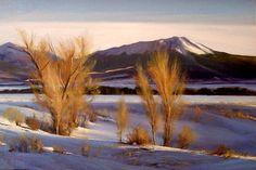 """Mountain Snow"" l 16x24 I Dix Baines I Fine Artist l Original Oil Paintings I Colorado l Snow l Winter l Mountains l www.dixbaines.com"