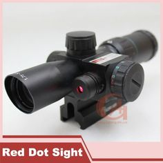 93.08$  Buy here - http://ali7d8.worldwells.pw/go.php?t=2054890875 - Tactical 1.75-5X24 Mil Dot Air Rifle Scope Optics Deer Hunting Scope 20 mm Rail Mounts with Red Laser Sight HT5-0016 93.08$