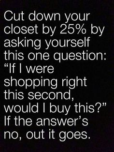 Cut down your closet by 25%