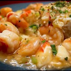 SHRIMP and CRABMEAT ETOUFFEE 2 onions, chopped 2 stalks celery, chopped 1 teaspoon olive oil teaspoon Granulated Garlic 2 cup chicken broth cup flour 3 tablespoons lemon juice teaspoon Cayenne Pepper, or to taste 2 teaspoons Tabasco sauce 1 Creole Recipes, Cajun Recipes, Shrimp Recipes, Cooking Recipes, Cajun Food, Shrimp Ettouffe Recipe, Lump Crab Meat Recipes, Seafood Rice Recipe, Cajun Cooking