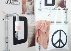 DIY Lamp + hanger