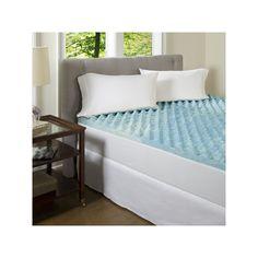 ComforPedic Beautyrest Big Comfort 3-in. Gel Memory Foam Mattress Topper, Blue