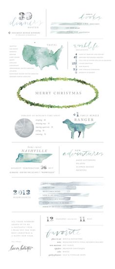 Gorgeous layout...and design of her year in review