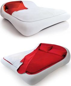 Zip-bed has snug fitted sheets like a luxury sleeping bag. Best blow-up mattress ever! Perfect for camping :) Camping Gear, Outdoor Camping, Camping Items, Camping Stuff, Materiel Camping, Vw Lt, Cool Inventions, Deco Design, Looks Cool