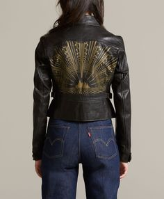 Levi's 1930s Painted Leather Jacket - Black - Collection
