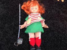 Unusual Vintage Plastic Doll With Orange Hair | 3.99+3.25 listed