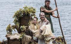 Vikings (series 2013 - ) Starring: Gustaf Skarsgård as Floki and Maude Hirst as Helga.