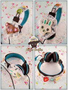 My new decoden headphones :D  #decoden #clay #airdry #fimo #fimoair #coldporcelain #fruits #strawberry #cakes #bear #bunny #headphones #clayfood #fakefood #kawaii #decoration #handmade #art #crafts #fakesweet #sweetdeco #homemade #accessoires #clayart #claycrafts