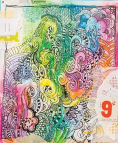 Learn how to combine doodling and collage to create unique art journal pages that are filled with layers, depth, and color! Doodle Art Journals, Art Journal Pages, Art Journaling, Simple Art, Unique Art, Cool Art, Fun Art, Art Journal Inspiration, Journal Ideas