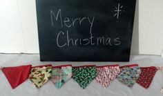 Fabric Merry Christmas Pennant Banner by KinseyKrafts on Etsy, $10.00