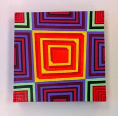 Op Art Box Painting 2, Op Art, Phish, Abstract, Acrylic, Disco Biscuits