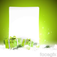 Exquisite gift box text background vector